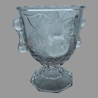 EAPG Baltimore Pear Antique Buttermilk, Goblet or Open Sugar