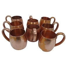 Vintage Copper Moscow Mule Mugs by West Bend, set of 8