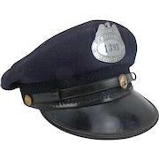 Vintage Mailman, Letter Carrier, Post Office Hat with Badge