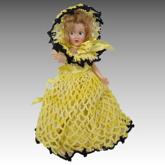 Nancy Ann Storybook Doll Hand-Crocheted Dress and Hat Plastic