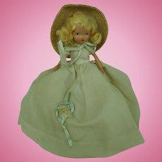 Nancy Ann Storybook Doll Bisque Straw Hat