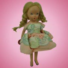 Nancy Ann Storybook Doll Pigtails Bisque