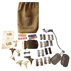 World War II Army Insignia Veterinary Corps 26 pieces