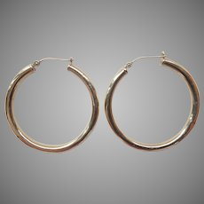 14k Rounded Hollow Hoop Earrings