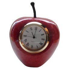 An Apple for the Teacher Red Stone Clock