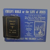 Miniature Child's Bible or The Life of Jesus on original card