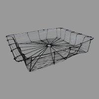 Victorian Wire Rectangular Basket