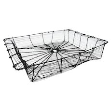 Victorian Wire Rectangular Basket