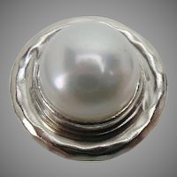 Silpada Sterling Silver and Freshwater Pearl Ring Lily Pearl size 8.5