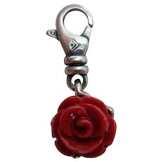 Silpada Sterling Silver Red Rose Charm Roses are Red