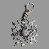 Silpada Sterling Silver and CZ Snowflake Charm