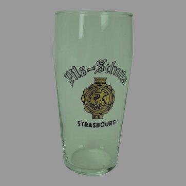 Pilsner Beer Glass Strasbourg France c.1960