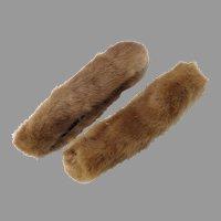 Mink Coat Sleeve Trim, pair