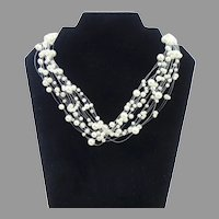 Faux Pearl Multi-Strand Necklace