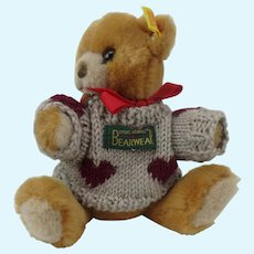 Steiff Bear Honey Plush Jointed with Sweater 7 inch