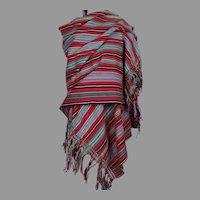 Guatemala Red Cotton Shawl Stole Wrap Scarf