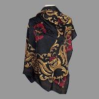 Designer Ellen Tracy 100% Silk Scarf