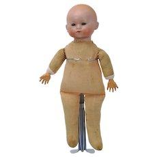 Hermann Steiner Baby Doll Sleep Eye Bisque Head Cloth Body