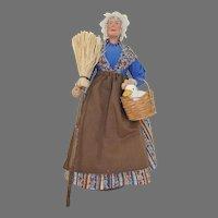 Syndicat des Santonnieres de Provence Doll Woman with Goose