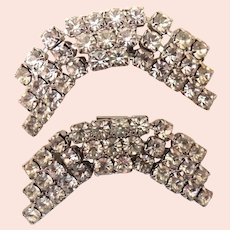 Curved Rhinestone Shoe Clips