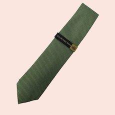 Countess Mara Hand-made Green Silk Tie never worn