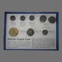 Medieval English Replica Coin Set MIB