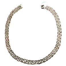 Vintage Braided Gold Filled Necklace