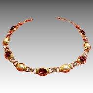 Stunning Jeweled Monet Necklace