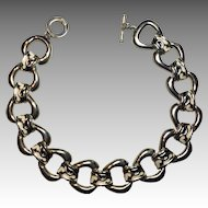 Signed Givenchy Paris-New York Black & White Enameled Collar Necklace