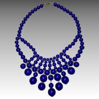 Fun Purple Passion Plastic Collar Necklace