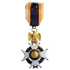 Important 1929 51st Governor of Massachusetts 14k Gold Medal Frank G. Allen Sons American Revolution