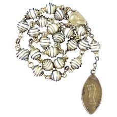 Catholic Peace Chaplet | Antique Notre Dame de France Medal