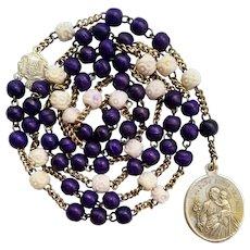 Rare German Dyed Bone Rosary Chaplet of St. Joseph