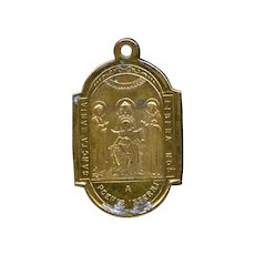 Antique Religious Medal | Free Us From the Fires of Hell | Scourging Pillar Reliquary