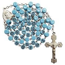 """Vintage """"Baby Bead"""" Lourdes Catholic Rosary"""