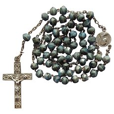 Vintage Catholic Lourdes Pilgrimage Rosary – Art Glass Beads