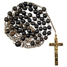 1900s Catholic Nun Priest Religious Belt Rosary | 50 Inches