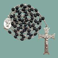 Vintage Sterling & Bakelite Catholic Rosary