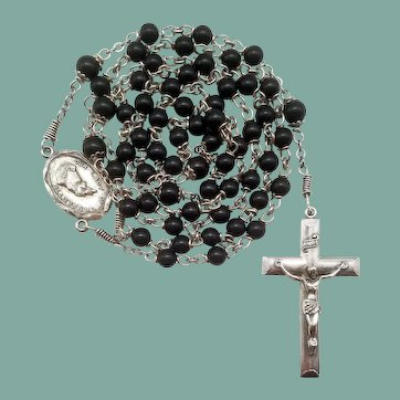Rare Creed® Sterling Bakelite Vintage Catholic Rosary | Our Lady of La Salette