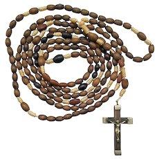 15-Decade Olive Wood Strung Catholic Rosary