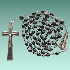 Vintage Creed Sterling & Bakelite Catholic Rosary – Elongated Elegance
