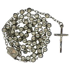 Vintage Silverplated Catholic Rosary | Roma