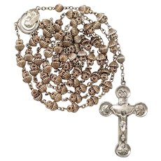 20C All-Sterling Catholic Rosary – Rare Creed® Design – 53 Grams