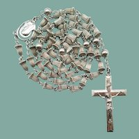 20C All-Sterling Wedding Bell Catholic Rosary | Scarce Creed® Design | 43 Grams
