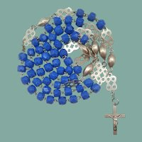 Artisanal Art Glass Vintage Catholic Rosary | Fancy Spacers