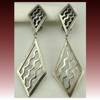 Vintage Large Sterling Kenneth Cole Earrings