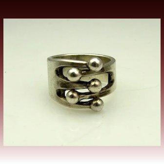 Famous Modernist Anna Greta Eker Sterling Ring Scandinavian