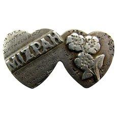 Sterling Antique Mizpah Sweetheart Love Token Pin