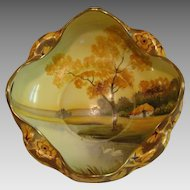 "Serene "" Swan Lake "" Nippon Landscape Bowl"