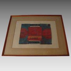 "**Original Painting "" Composicion En Signo "" by Listed  Artist Uruguayan Heber Rolandi Scelza"
